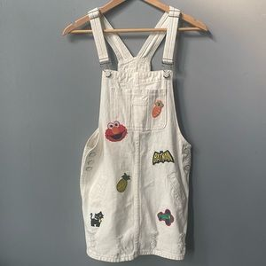 Graphic Patched Overalls⚡️